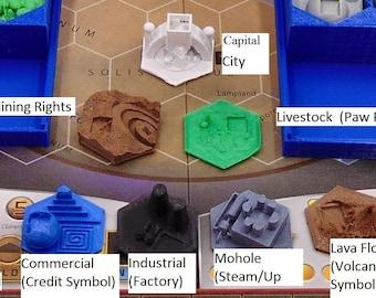 Terraforming Mars Game Gear : 3D Tiles Set of 140
