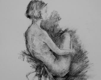 Life Drawing # 12 Charcoal Sketch