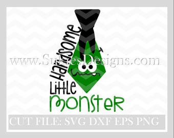 Handsome Little Monster SVG File For Cricut and Cameo DXF for Silhouette Studio Cutting File,ghost svg, ghost svg file, boy halloween svg