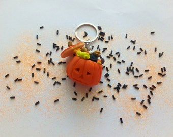 """Sweet Pumpkin"" key ring"