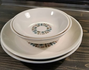 Set of 4 Canonsburg Temporama Bowls - So Shiny!