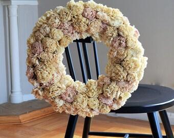 Dry Peony Wreath | Dried Floral Wreath | Dried Flower Door Wreath | Fall Wreath | Floral Wreath Door | Dried Flower Wreath | Dry Wreath