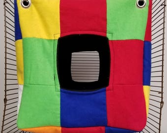 Rubik's Cube Theme Hammock - Rat/Ferret Cube Hammock