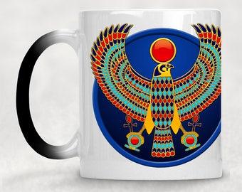 "Horus falcon / egyptian falcon / falcon god / Horus falcon god - ""Heka"" magic mug / Colour changing mug / egypt mug"