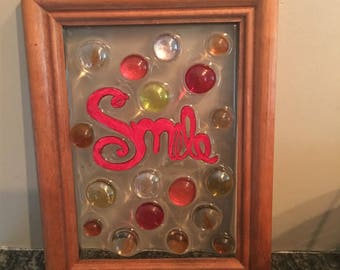 """Sun catcher with word """"smile"""""""