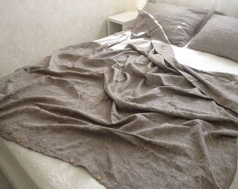 Duvet cover and Two pillowcases Linen set Bedding Twin Full Double Queen King 100% Flax