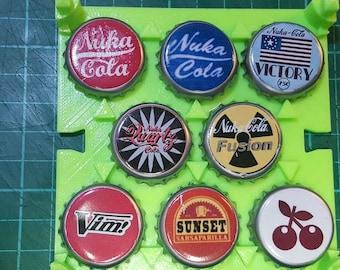 Custom Nuka bottle cap set