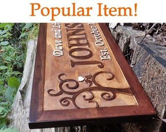 Established sign personalized Family name sign Last name sign Engagement gift For bride Personalized Family established 5th Anniversary gift