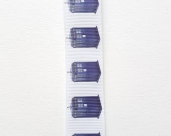 Doctor Who tardis keychain lanyard