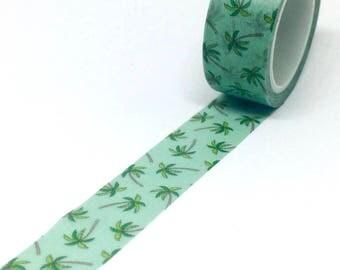 Tropical Palm Tree Washi Tape