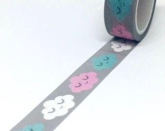 Cloud Face Washi Tape - Cute