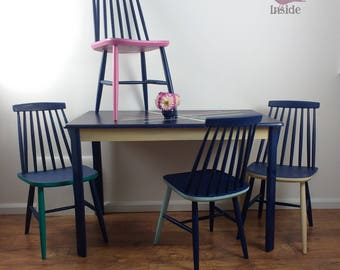 Dining Set, Kitchen Set, Table & Four Chairs,