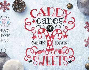 Candy canes svg, Candy Canes Candies Treats Sweets Cut File in SVG, DXF, PNG, Christmas Candy Canes svg, Candy canes sale svg candy svg file