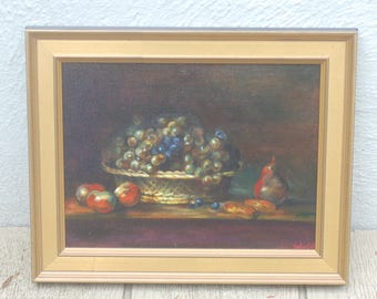 Original Art: Stillife with Grapes and Pears