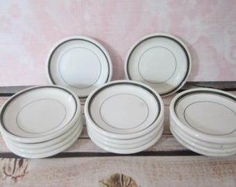 14 Vintage Stoneware John Maddox & Sons LTD Small Tea Bag Plates England