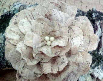 Handmade cork flower,portuguese natural cork