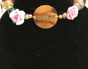 Game Of Thrones inspired beaded Bracelet - Tyrell - Roses