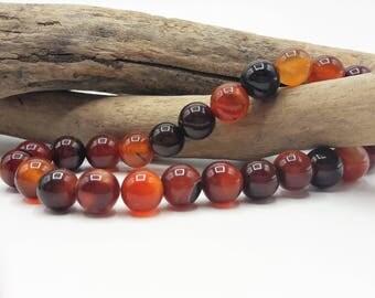 40 natural Agate beads - 8 mm - gem stone - semi precious gems - Ref A012