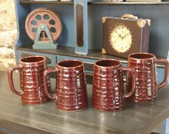 Vintage Mar Crest Stoneware Mugs- set of 4