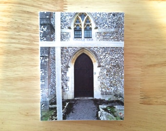 """Handmade Note Cards """"Country Church"""" Original Design: 10 Cards and 10 Envelopes - Old Country Stationery"""