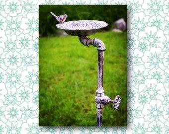 Bird Garden Stake Etsy
