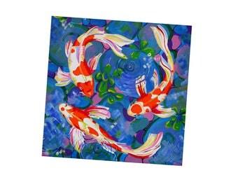 Koi Fish Magnet, Fridge magnet, Fridge art, Koi Fish Gift Idea, Gift under 5, Goldfish, Kitchen Decor, Koi Fish Decor