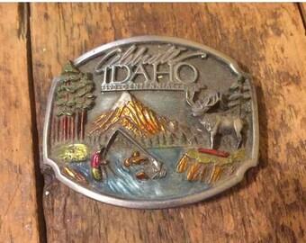 NEW LOW PRICE Idaho Centennial limited edition Belt Buckle. made in 1990/ cast belt buckle/state Centennial/ 1990/