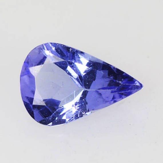 Beautiful Tanzanite: Beautiful 0.40 Cts Natural Tanzanite Pear Violet Blue 6.2 X