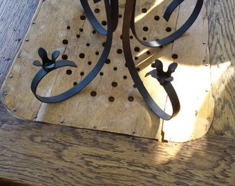 Vintage Black Metal Table Top Candelabra