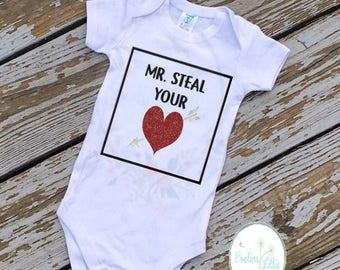 Mr Steal Your Heart, Valentine shirt, boys valentine shirt, boy shirt, VDAY shirt, steal you heart, valentine tee, boys tee, VDAY tee