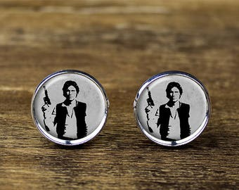 Han Solo cufflinks, Star Wars cufflinks, Han Solo jewelry