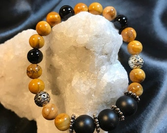 Earth Day Energy ~ Yellow Jasper Woman's Gemstone Bracelet