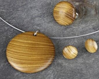 Jewelry set from laburnum handmade unique!