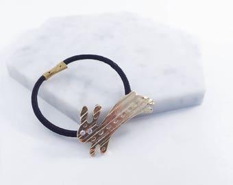 Rabbit hair ties; hair accessories; rabbit accessories; bunny hair tie; rabbit hair bow