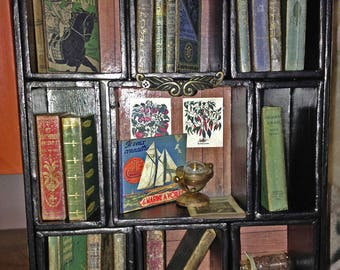 Miniature library of books