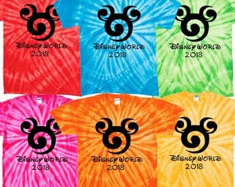 Disney World 2018 t shirt family vacation tie dye  matching shirts Magic Kingdom epcot disney hollywood studios galaxy's edge