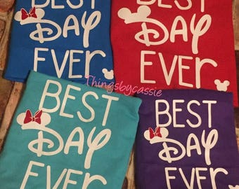 Best day ever, Disney family shirts,  matching Disney shirts, Disney family tank tops, Disney shirt,