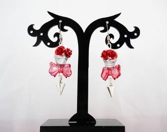 Calavera earrings - skull Mexican - sugar skull - dia los muertos - day of the dead