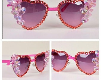 Crystal Sunglasses-Cute Fashion Sunglasses-Custom Sunglasses Clean Rhinestone Sunglasses Women Accessories -Made to order