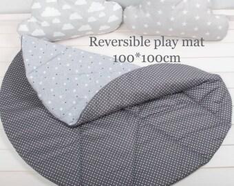 Round Play Mat, Reversible Play Mat, Baby Play Mat, Padded Baby Mat, Nursery Decor, Floor mat, Kids mat, Baby mat, nursery, Padded Play Mat