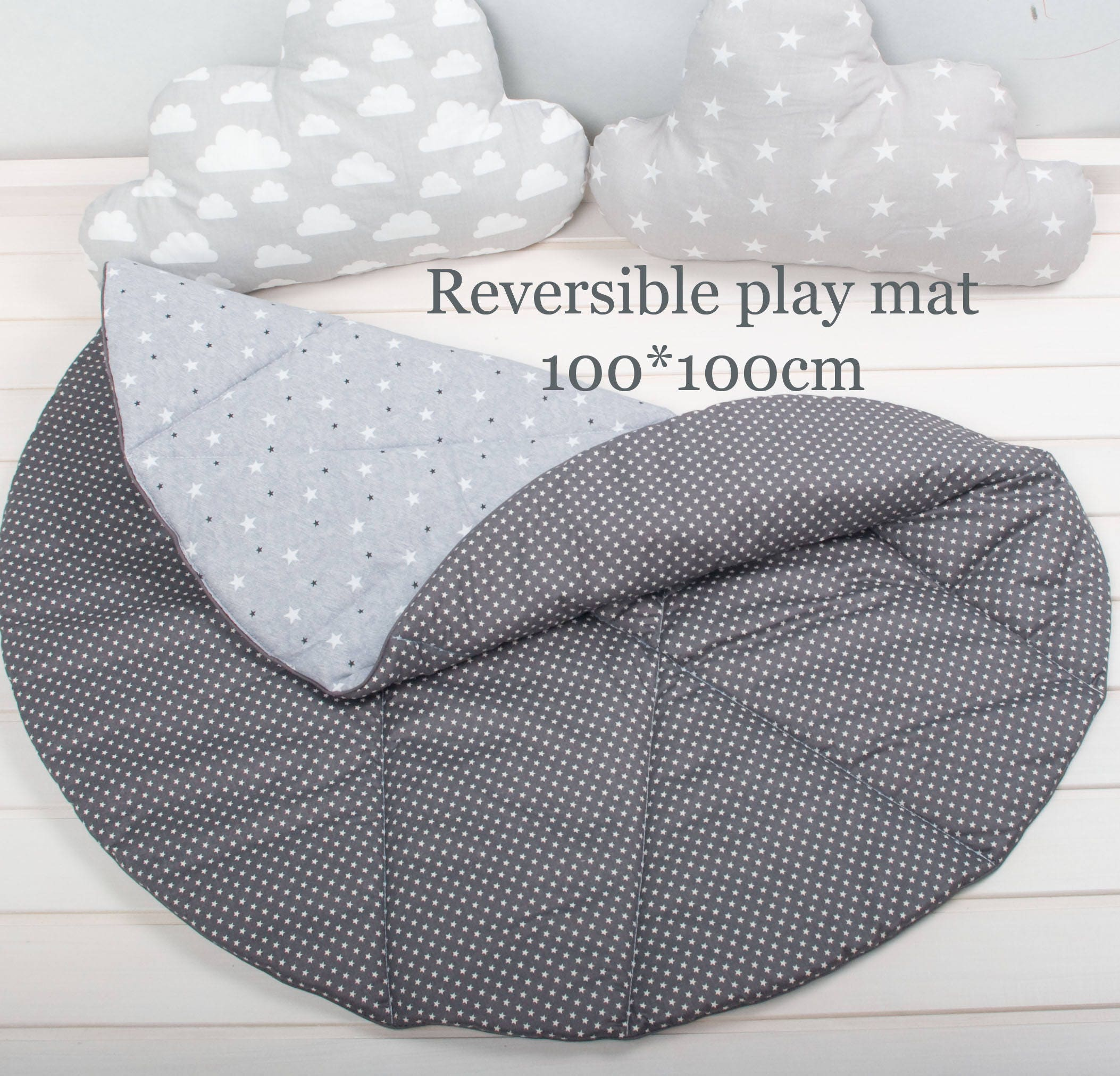 Round Play Mat Reversible Play Mat Baby Play Mat Padded