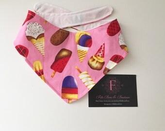 Lollypop icecream dog bandana - pink girly neckwear - dog scarf