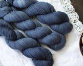 Denim - Hand Dyed Yarn - Sock Yarn - Fingering Yarn - Superwash Merino / Nylon - 100 gms