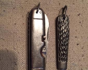 Vintage I.K. Co. Pocket Knife with Bonus Camp Knife