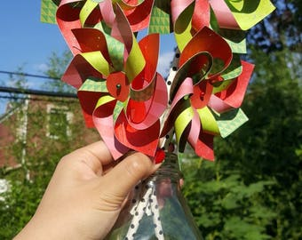 SPINNING Paper Pinwheels - Watermelon Theme