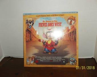 vintage 1991 an american tail fievel goes west digital laserdisc