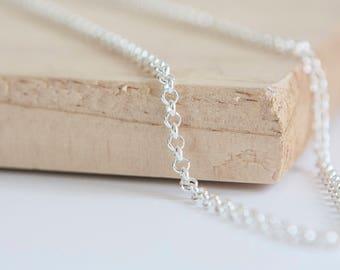 Rolo Belcher Chain, Sterling Silver, Silver Rolo Chain, Sterling Silver Belcher Chain, Silver Belcher, Rolo Chain Necklace, Round