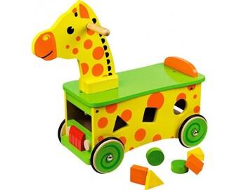 Personalised Giraffe Sit & Ride
