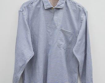 45RPM Shirt Vintage 45RPM & Joubo De Nagamochi Made In Japan Hickory Stripe Long Sleeve Shirt Size 3