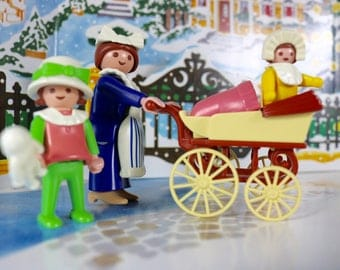 Playmobil Victorian Nanny and Children set 5502 complete